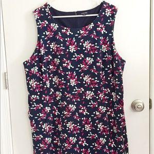 Land's End Floral Stretch Sleeveless Dress